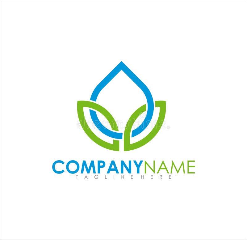 Modern enkel ny organisk logodesign royaltyfri foto