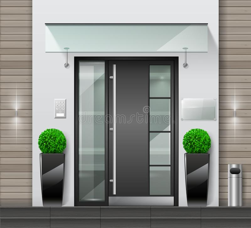 Free Modern Entrance To A Building Or Office Stock Photography - 163205662