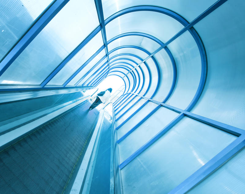 Modern escalator stock photography