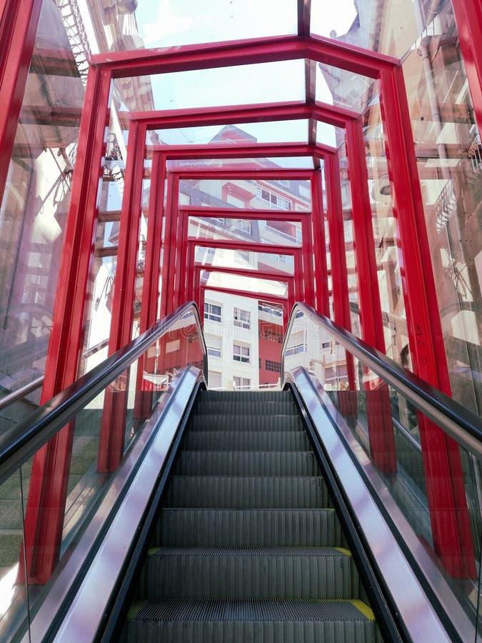 Free Modern Escalator In Vigo Stock Images - 159281154