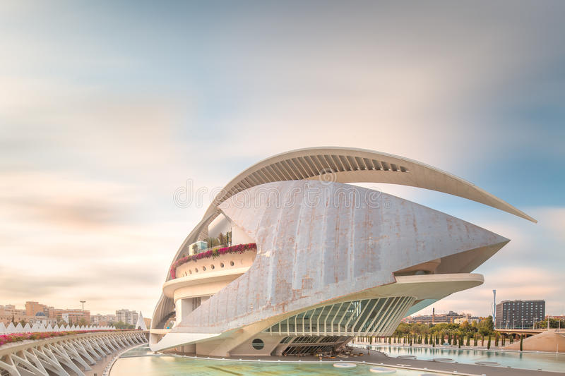 Modern European Architecture Valencia Editorial Photo