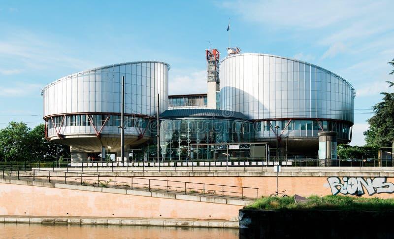 Modern europeisk domstol av mänskliga rättigheter royaltyfri foto