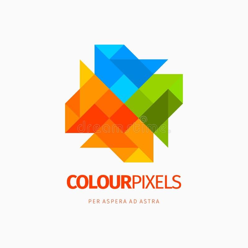Modern färgrik abstrakt beståndsdel för symbolsdesignlogo Mest bra för identitet och logotyper vektor illustrationer