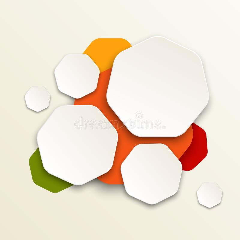 Modern färgrik design stock illustrationer