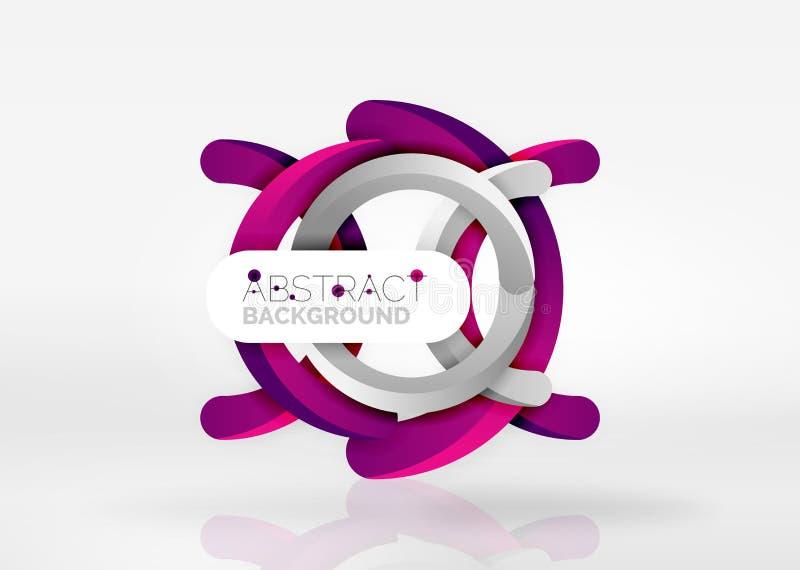 Modern för vektorabstrakt begrepp för cirkel 3d bakgrund stock illustrationer