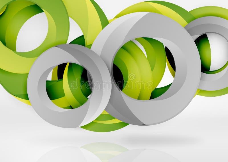 Modern för vektorabstrakt begrepp för cirkel 3d bakgrund vektor illustrationer