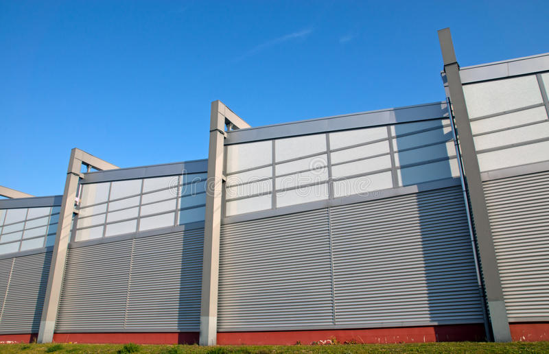Modern facade of an industrial building royalty free stock images