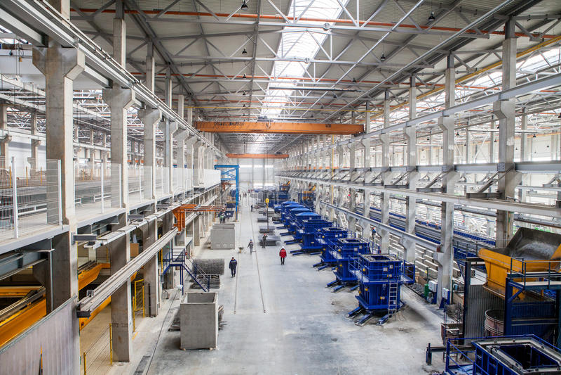 Modern factory royalty free stock photo