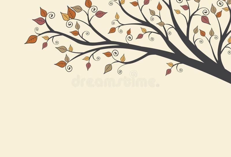 Modern Fall Autumn Leaves Background 1.  vector illustration