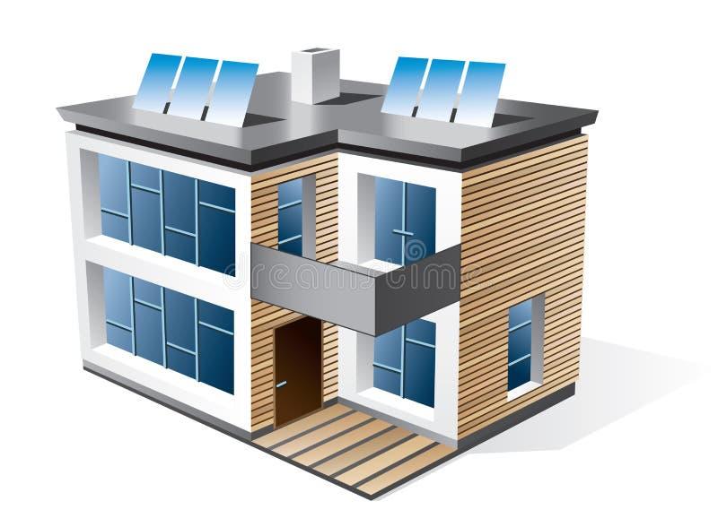 Modern family house stock illustration