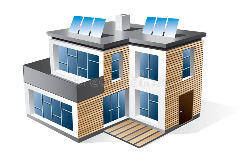 Modern family house vector illustration