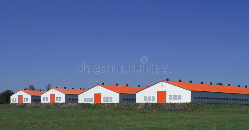 Modern farm stock photo