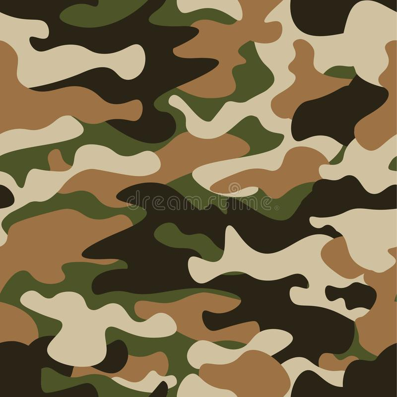 Free Modern Fashion Vector Trendy Camo Pattern.Classic Clothing Style Masking Camo Repeat Print. Green Brown Black Olive Royalty Free Stock Images - 106650989