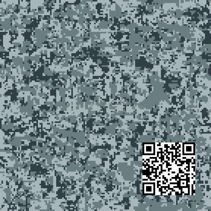 Modern fashion vector trendy camo pattern. Digital camouflage seamless pattern royalty free illustration