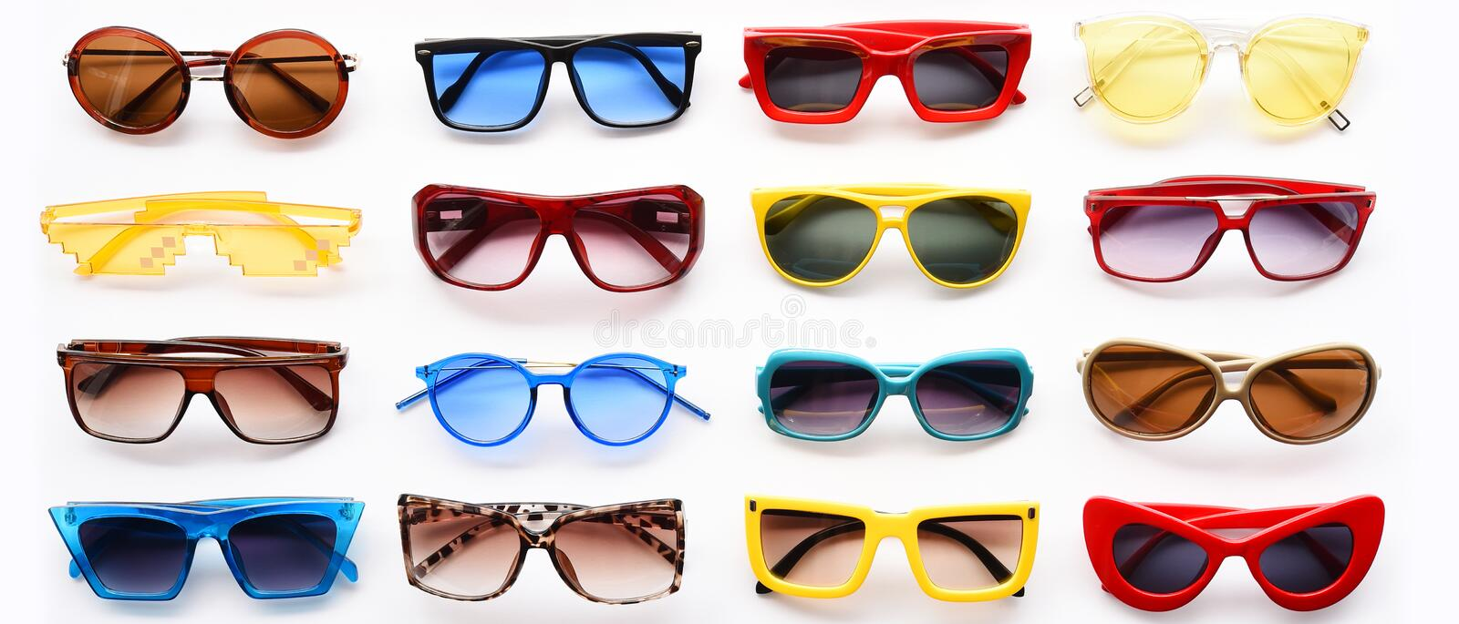 Modern fashionable sunglasses royalty free stock photos