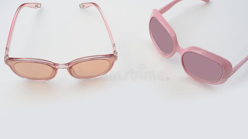 Modern fashionable sunglasses stock photography