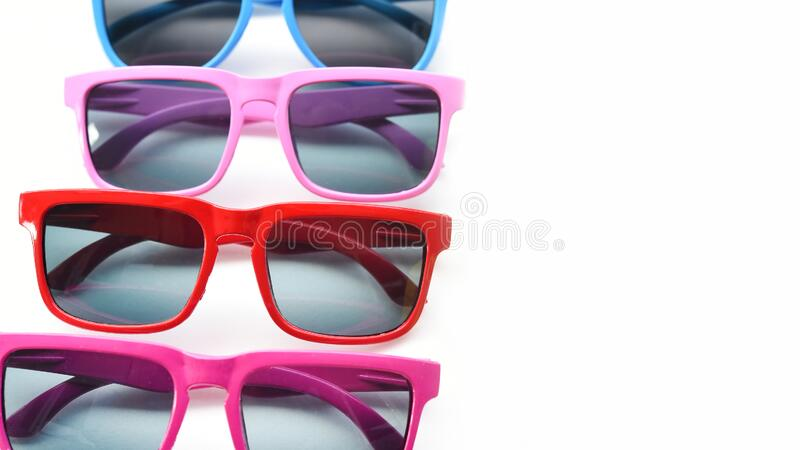 Modern fashionable sunglasses stock images
