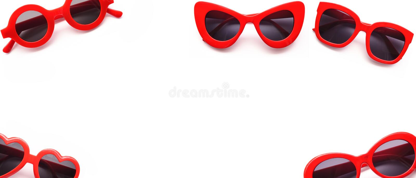 Modern fashionable sunglasses royalty free stock photo