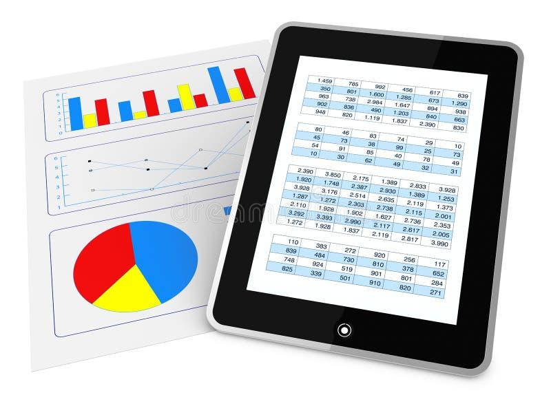 Download Modern financial analysis stock illustration. Image of equipment - 21163322