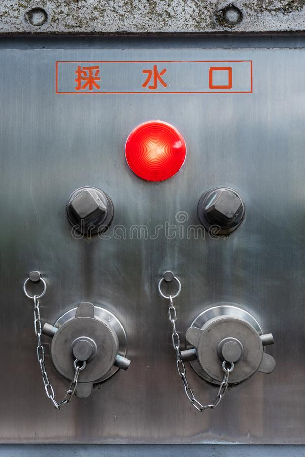 Modern Fire Hydrant in the Tokyo. Sleek design. Safety purpose. Technology stock photos