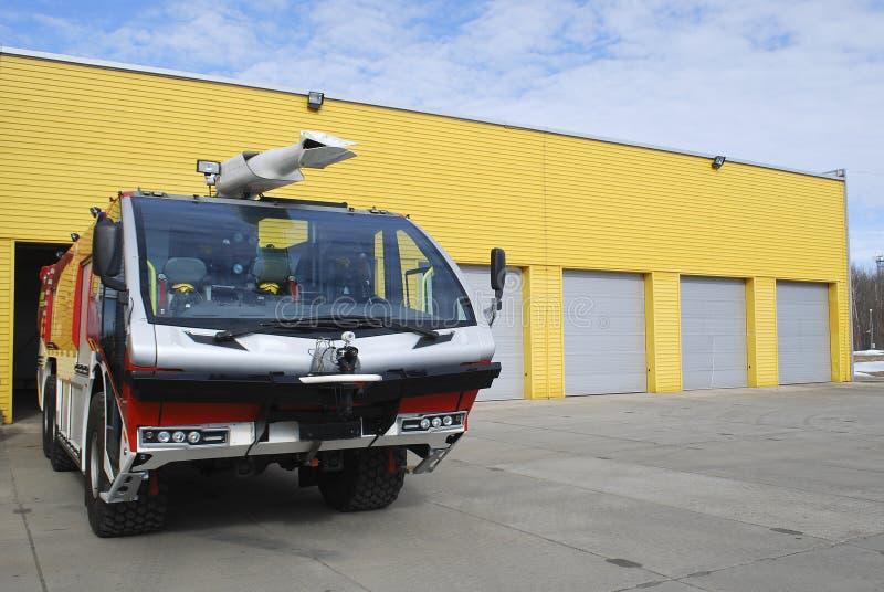 Modern firefighting truck royalty free stock photos