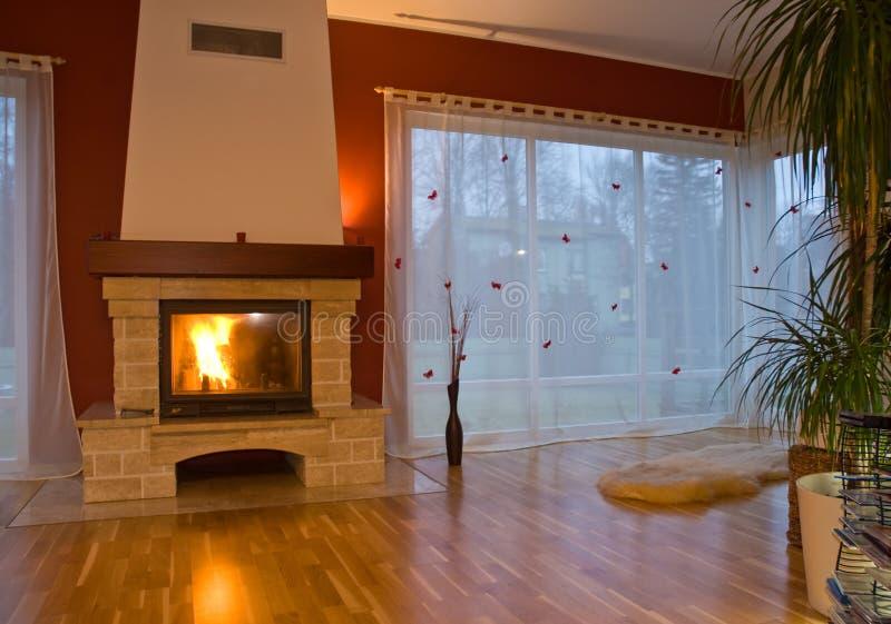 Modern Fireplace royalty free stock photos