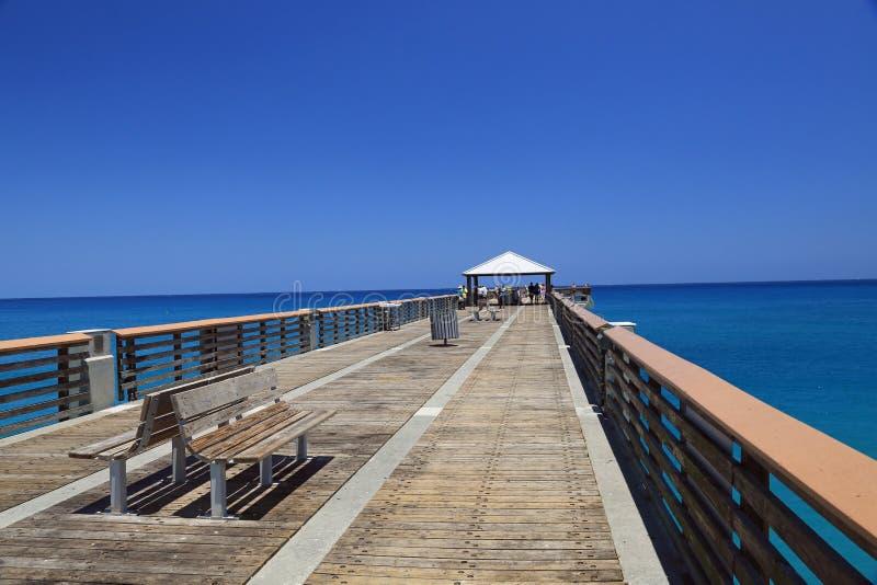 Modern Fishing Pier stock image