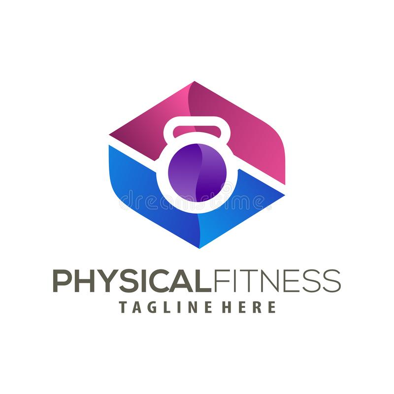 Modern Fitness logo and icon design. Suitable for your business, company and personal branding stock illustration