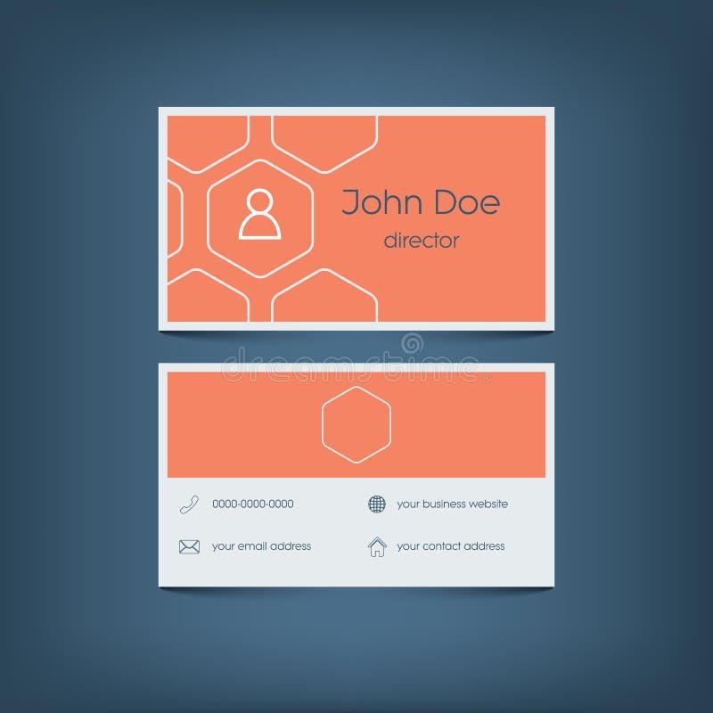 Modern Flat Design Business Card Template Graphic Stock Vector - Email business card templates