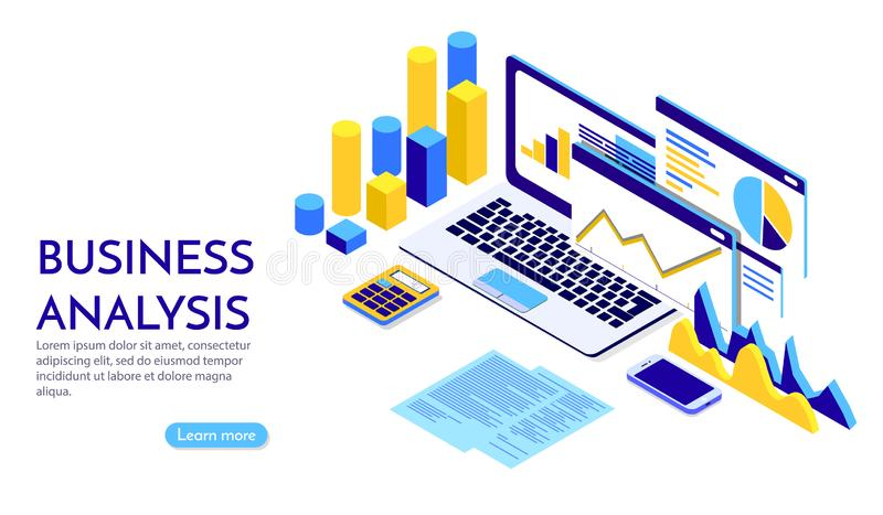 Modern flat design isometric concept of Business Strategy for banner and website. Landing page template. Business royalty free illustration