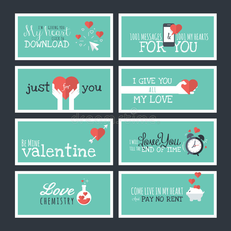 Modern flat design valentines day greeting cards and banners stock download modern flat design valentines day greeting cards and banners stock vector illustration of heart m4hsunfo Image collections