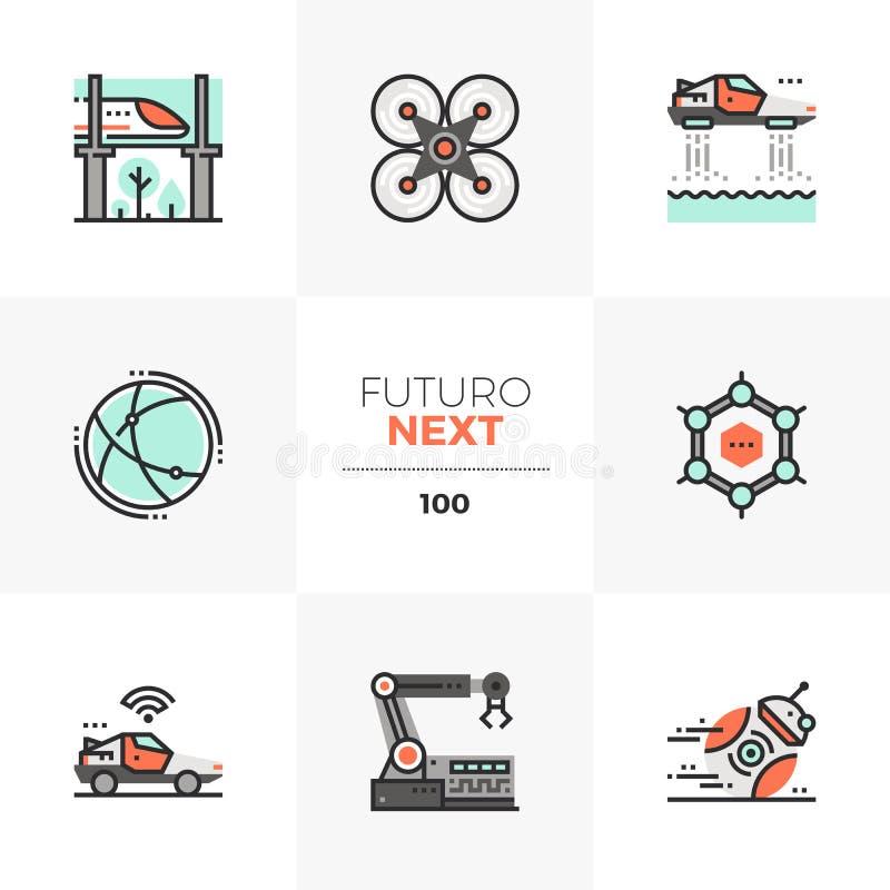 Future Technology Futuro Next Icons stock illustration