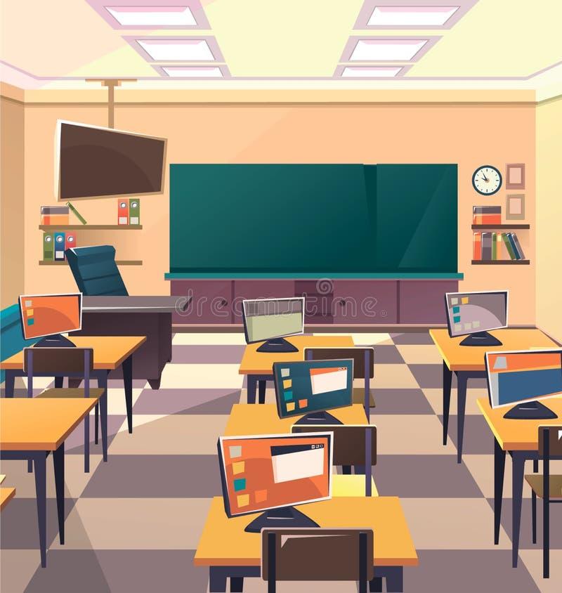 Modern Classroom Vector ~ School classroom interior stock vector illustration of