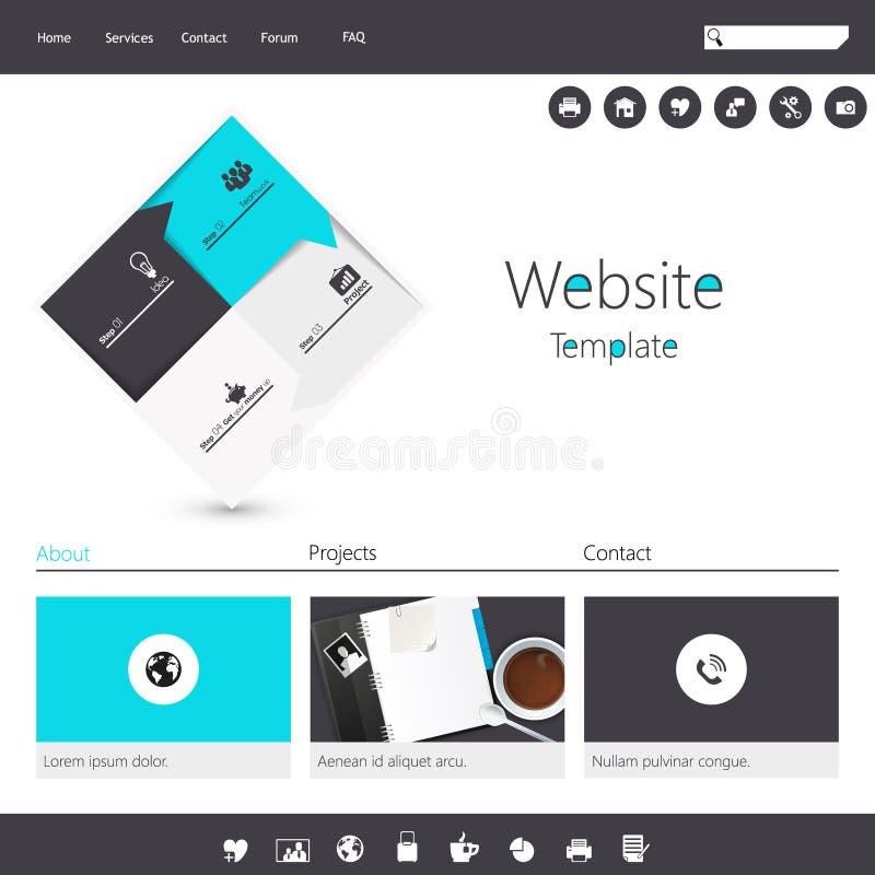 Modern Flat Minimalistic Website Template Stock Vector - Minimalist website template