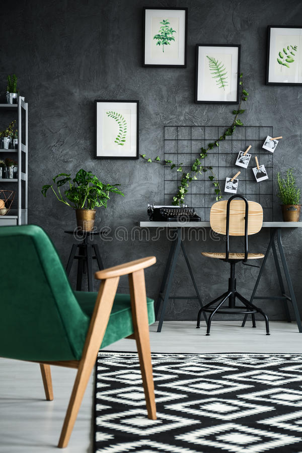 Modern flat with plants royalty free stock photos