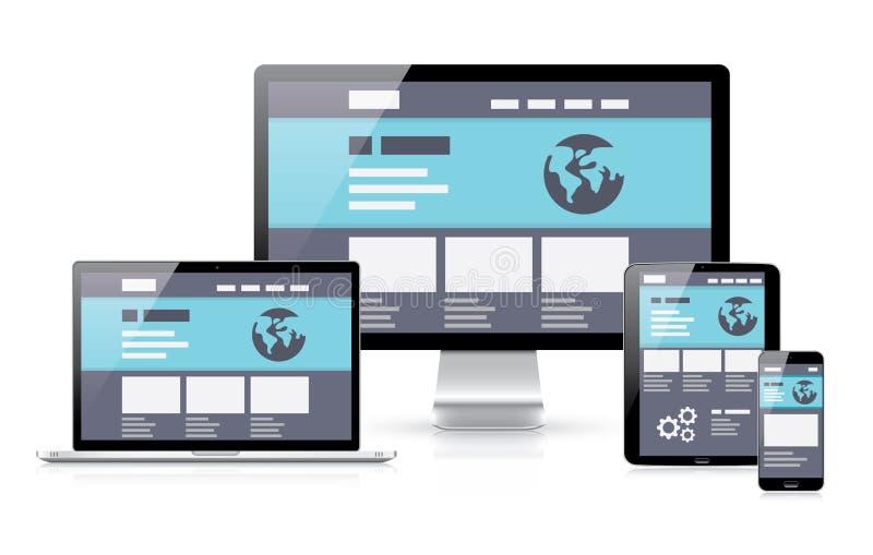 Modern flat & responsive vector illustration of co stock illustration