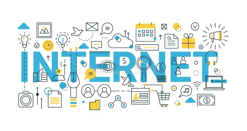 Concept of internet, for graphic and web design vector illustration