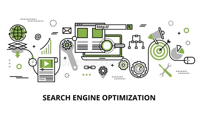 Concept of search engine optimization vector illustration