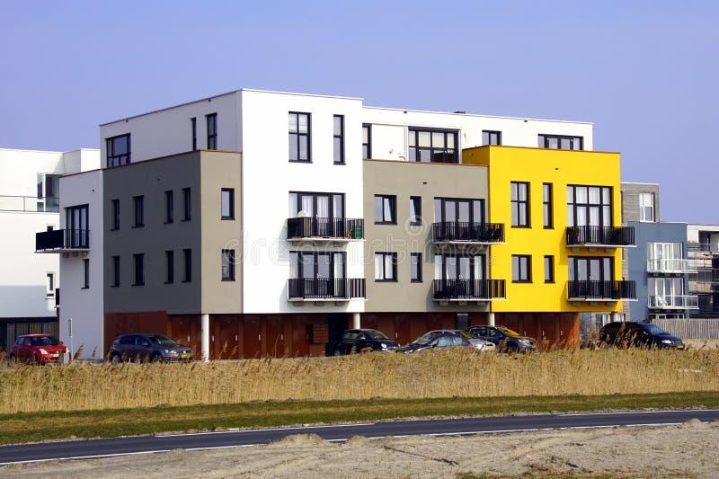 Modern flatgebouw, Almere Poort stock afbeelding