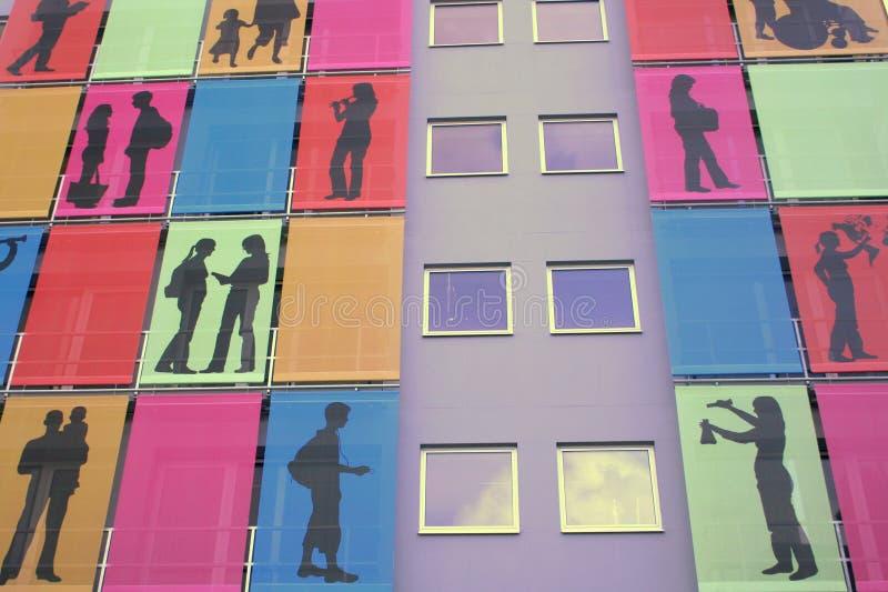 Modern flats stock photography