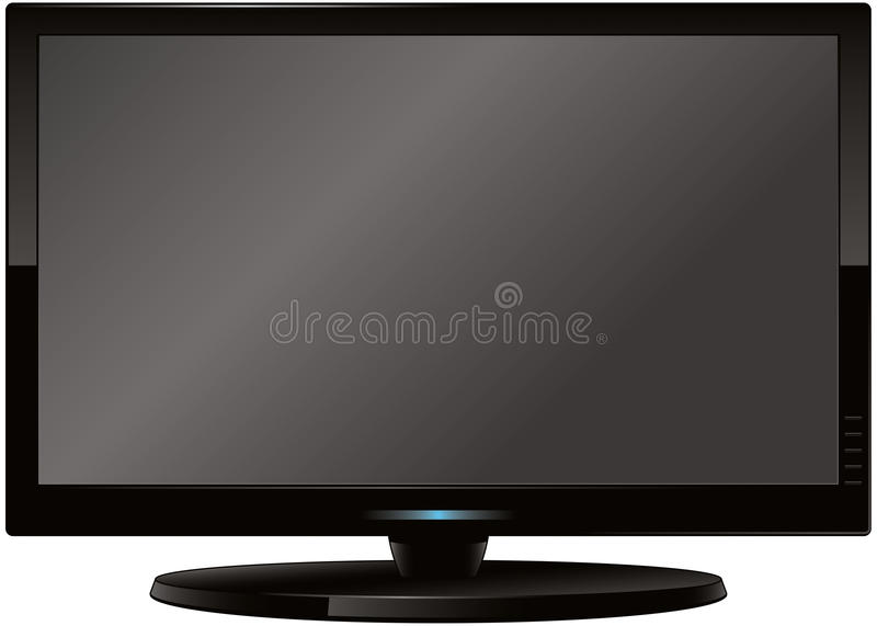 Modern Flatscreen HD TV Royalty Free Stock Image