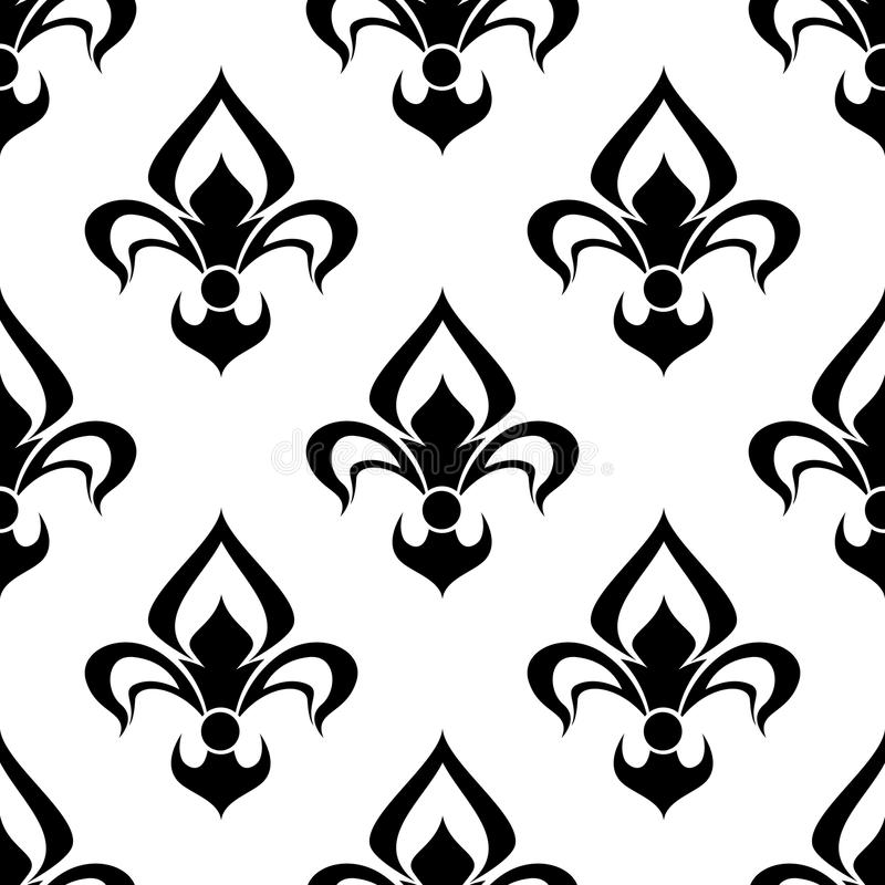 modern fleur de lys background seamless pattern stock vector