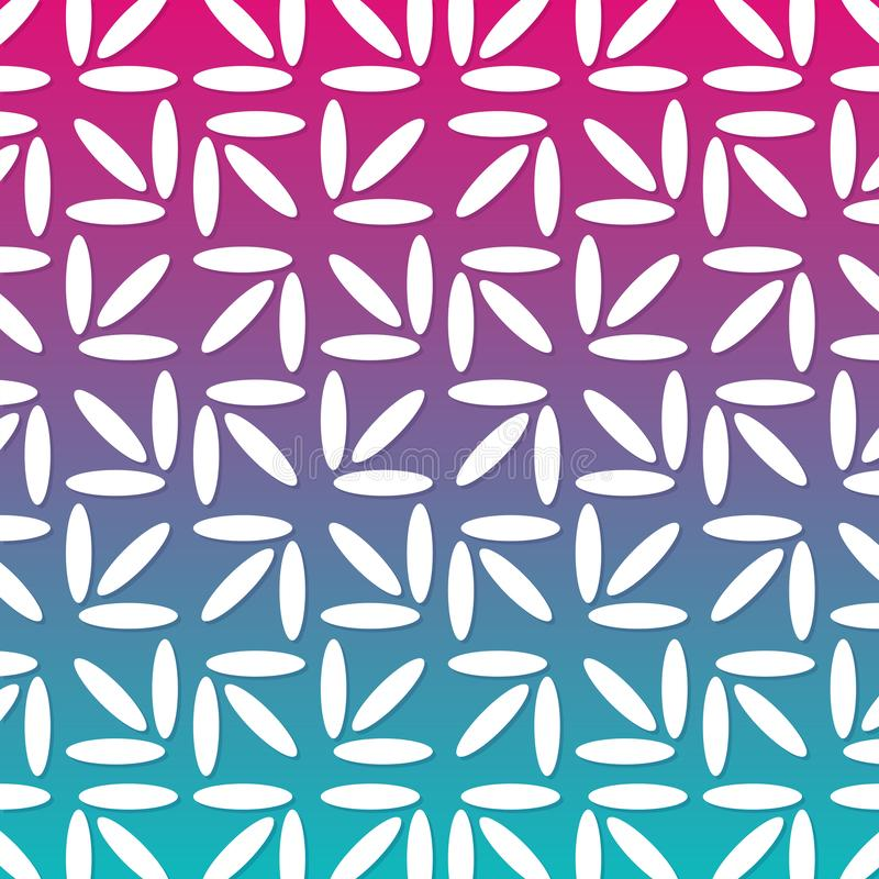 Modern Floral Abstract Pattern Geometric Line Gradient Background. stock illustration
