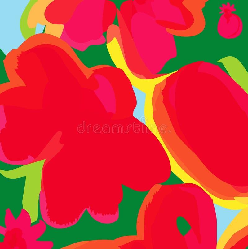 Download Modern floral backgroung stock illustration. Image of elegance - 12816380