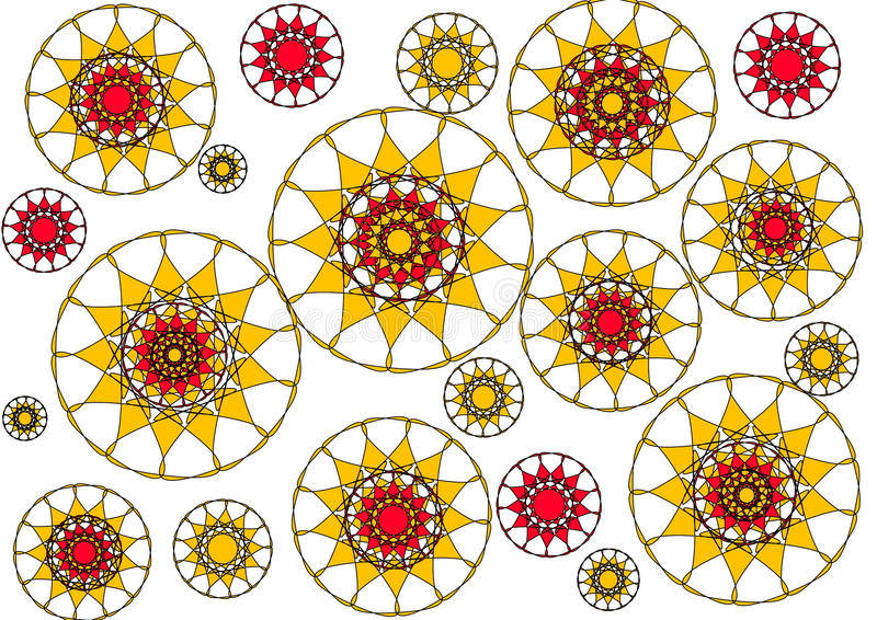 Download Modern Floral Petalled  Abstract Design On White Background Stock Illustration - Image: 28242782