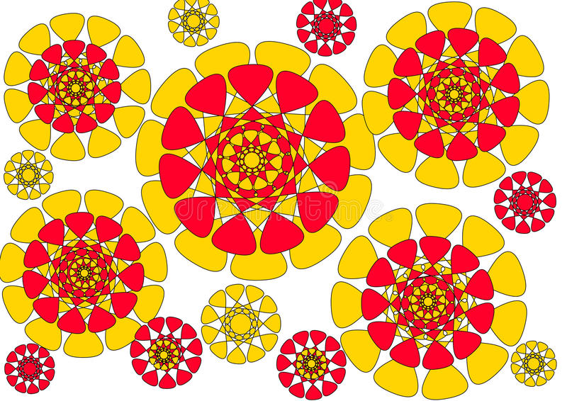 Download Modern Floral Petalled  Abstract Design On White Background Stock Illustration - Illustration of lines, outs: 28242832