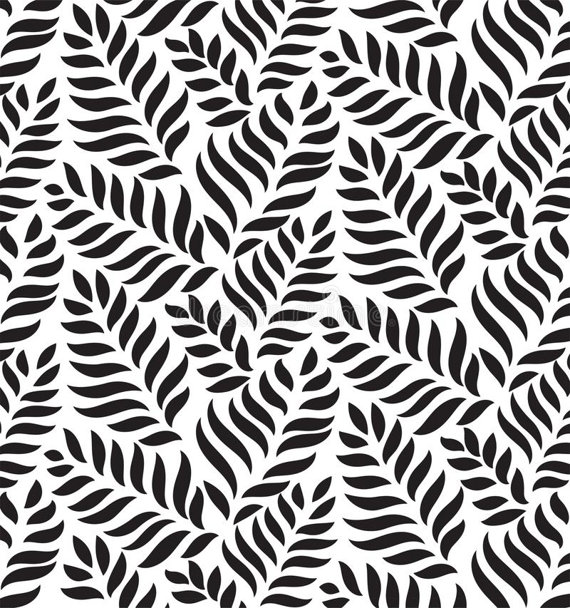 MODERN FLORAL SEAMLESS VECTOR PATTERN. DROP SHAPE BACKGROUND. TRENDY LEAVES MOTIVE stock illustration