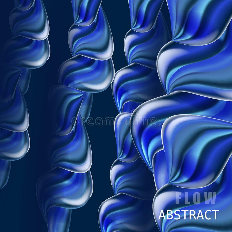 Modern fluid gradient colorful flow composition. Trendy abctract shapes poster, baner, template. Wave Liquid shape in stock illustration
