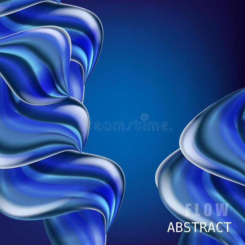 Modern fluid gradient colorful flow composition. Trendy abctract shapes poster, baner, template. Wave Liquid shape in vector illustration