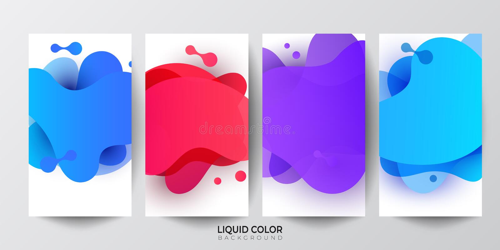 Modern fluid mobile sale banners template set for online shopping. royalty free illustration